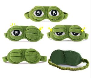 Lustige Kreative Pepe der Frosch Sad Frosch 3D-Augen-Schablonen-Abdeckung Karikatur-Plüsch-Schlafmaske nette Anime-Geschenk
