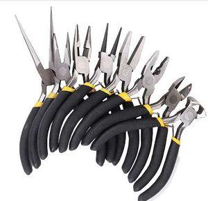 Drillpro 8 Pcs / Set Bijoux Pince Aiguille Ronde Bent Nose Perles Faire Bricolage Craft Tool Kit Haute Qualité