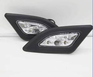 Honda JAZZ / FIT 2008-2010 용 자동차 안개 조명 Clear Halogen Bulb 전면 안개 조명 범퍼 램프 키트