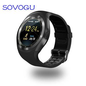 SOVO 블루투스 Y1 스마트 시계 Relogio 안드로이드 스마트 워치 전화 SIM TF 카메라