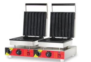 110V 220v вафельные ручки чайник двойной головкой электрические churros машина коммерческих вафельные churros делая машину