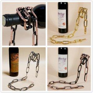 Porte-bouteilles de vin porte-bouteille de vin créatif suspension cadre de support de chaîne de corde pour bouteille de vin rouge 3cm ornements de décoration C102