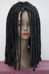 HIP-HOP 레게 블랙 Dreadlocks 가발 가장 위 Braids Cosplay Party Wig Hair Free Shipping 가발