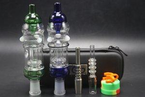 Grande taille 14mm Mini verre Pipes main 32mm Diamètre du tube Oil Rig verre d'eau Tubes Bong Avec Fermeture Éclair