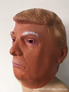 Cosplay Donald Trump Masque Latex Tête Couverture Mascarade Costume Présidentiel Masques Halloween Party Decor Créatif Drôle Cadeau 18yc ii