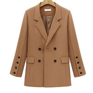 EXOTAO Office Lady Blazer femminile manica lunga colletto turn-down vestito delle donne 2017 inverno elegante giacche di colore solido cappotti S18101304