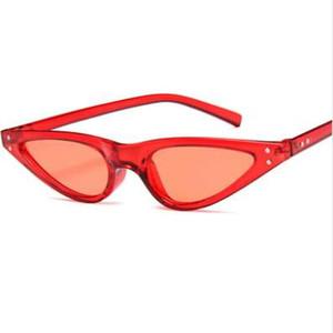 NYWOOH Cat Eye Sunglasses Women 90s Small Vintage Cateye Sun Glasses Female Retro Black Red Triangle Eyeglasses Trendy Gifts