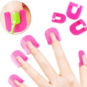 Nuevo 26 unids Herramienta de manicura Nail Gel Modelo Clip Nail Edge Gradient Print French Nail Polish Pegamento Herramienta de prevención de desbordamiento