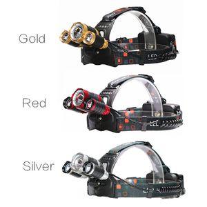 Ücretsiz nakliye Yentl LED Far Zoomable 13000Lm 3T6 Kafa Fener Meşale Şarj edilebilir Başkanı Işık Alın Kafa Balıkçılık Far
