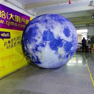 الإعلان المطاطية العملاقة الصمام ضوء سعر المصنع للنفخ نفخ كوكب القمر عام 2018 الإعلان خارج الديكور