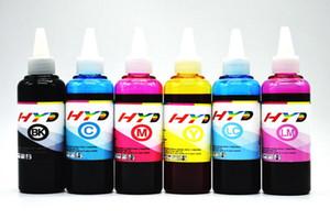 6x100ml / Lot, kits de recarga de tinta HYD PP-50 PP100 para Epson PP-100 PP-100AP PP-50 PP-100N PP-100II impresora de disproductor CISS Recarga de cartucho de tinta