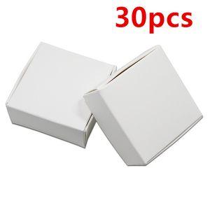 30 Unids Blanco Caja de Embalaje de Papel Kraft Cartón Banquete de Boda Pequeño Regalo Cajas de Embalaje Craft Paper DIY Paquete de Jabón Hecho A Mano Caja de envío gratis
