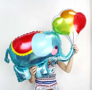 Yeni 1 parça büyük Karikatür folyo balonlar Fil helyum balon doğum günü süslemeleri çocuklar oyuncak doğum günü partisi düğün be ...