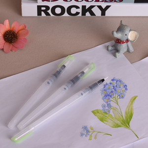 3pcs Watercolor Brush Pen Kit Set Water Storage Nylon Hair Point Tips for Solid Color  Painting Drawing Calligraphy Artist