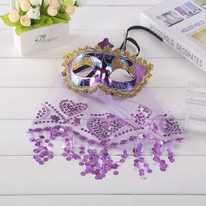 Máscara do baile de máscaras do dia das bruxas dança do ventre feminina máscara de princesa misteriosa máscara da festa de Natal atacado