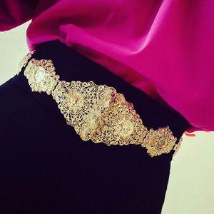 Marca barroca exagerada accesorios gran ancho oro mujeres cabeza de metal cinturón de cintura elástico cadena cadena joyería de moda S18101807