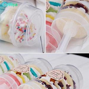 Matière plastique Transparent Cake Pushing Cylinder Desserts Push Up Pop Conteneurs Twist Cake Mold Cup Push