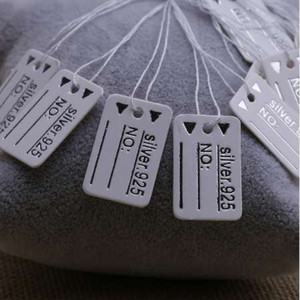 1000PCS 925 Silver Label String Price Tags Display 0.9x0.6
