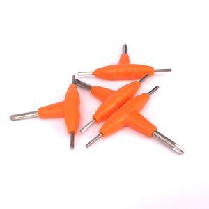 Атомайзер ремонт небольшой Т-образный отвертка мини крест шестигранный Отвертка Отвертка Отвертка Отвертка Отвертка специальный для RDA испаритель аксессуары Vape инструмент
