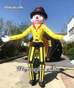 Sfilata delle prestazioni Walking gonfiabile Clown marionetta marionetta 3.5m divertente Blow Up costume del pagliaccio Per Circus Show