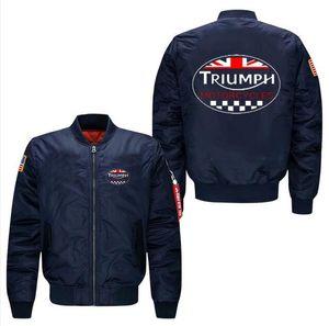 Триумф мотоцикл полет куртка пальто весна мужская досуг куртка воротник код ВВС пилоты мотоцикл куртка, США размер