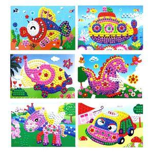 10 Unids Rompecabezas 3D Al Por Mayor Mosaicos de Espuma Cristalino Pegajoso Arte Princesa Mariposas Sticker Game Kids Mejor Regalo