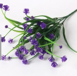 7 다발 멀티 헤드 디저트 장미 물 잔디 시뮬레이션 플라스틱 꽃 카페 / 식당 장식의 꽃