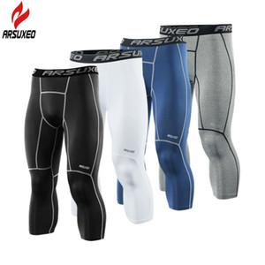 ARSUXEO Neue Herren Laufhose Compression Sport Leggings Gym Fitness Sportbekleidung Training Yogahosen für Männer Cropped Hosen