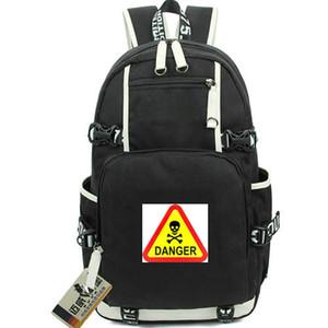 Gefahrentagesrucksack Warnlogo Tagesrucksack Straße Straßenschild Schultasche Freizeitrucksack Laptop Rucksack Sport Schultasche Rucksack für draußen