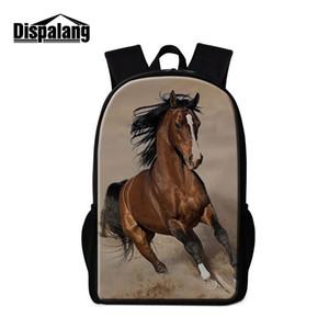 Лошадь Рюкзаки Для Мальчиков-Подростков Младших Школьников Back Pack Мода Bookbag Для Женщин Колледжа Стильный Плеча Книги Сумки Мужчины Рюкзак