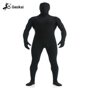 Gesikai Zentai hommes Lycra pleine Bodysuit Zentai hommes personnalisés Second Skin Collants Costume Halloween Costume