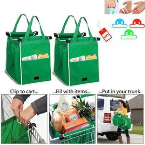 New Grab Bag wiederverwendbare umweltfreundliche Einkaufstaschen, die zu Ihrem Warenkorb faltbare Einkaufstaschen wiederverwendbare Eco Shopping Tote 100pcs CNY675