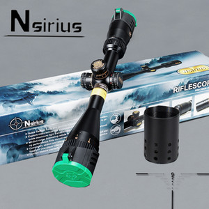 NSIRIUS Tactical 4.5-18X44 AO Riflescope Optical Sight Full Size Mil Dot Red Green llluminate Hunting Rifle Scope