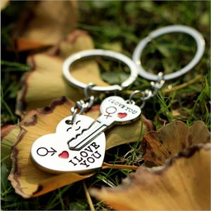 Lovers Key to My Heart Keychain Valentine's Day Wedding Favors And Gifts Souvenirs Wedding Event & Party Supplies