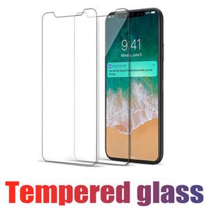 Para iphone x 8 7 6 6 s plus protetor de tela de vidro temperado samsung s6 s7 nota 5 s9h durezacreen filme claro proteção sem pacote de varejo