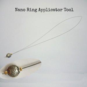 10 unidades Nano anel Threader / puxando anel nano ferramentas / Stainles aplicadores de cabelo para cabelos de ponta de fusão