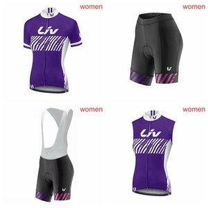 LIV 여성 자전거 반팔 저지 (턱받이) 반바지 민소매 조끼는 베스트 셀러 자전거 로파 Ciclismo 여름 자전거 타이츠 Ciclismo P62218을 설정