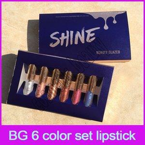 뷰티 유약 Pearlescent Lip Gloss 립글로스 6 팩 입술 광택 세트 신품 무료 배송 DHL