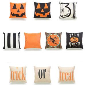 2018 Halloween Decorative Pillow Case Halloween Zucca Dolcetto o Scherzetto federa casa festa decorativa federe
