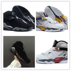 NIKE AIR JORDAN Comercio al por mayor 2018 Nuevo 8 Bichos Alternativos Bunny 8s Negro Cromo Hombres Mujeres Zapatos de Baloncesto Aqua VIII Tres Peat Athletic Sneakers Shoes