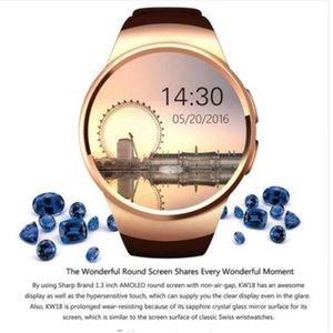 Akıllı İzle KW18 akıllı saatler IOS ve Android Sistemi için Uyumlu Moda Şekil Kalp Hızı Sync Kol DHL ücretsiz kargo