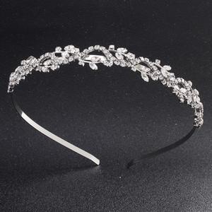 Австрийский Кристалл Камень диадемы женщины ювелирные изделия волос мода свадебные Hairbands аксессуары ручной работы сплава металла короны JCI071