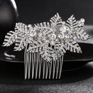 La moda deja peines del pelo de la boda accesorios para el cabello regalo de las damas de honor joyería de cabeza nupcial Hairstylist postizos para mujeres JCH119