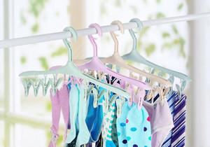 폴더 형 버클 플라스틱 비 - 슬립 행거 8 폴더 옷 걸이의 새로운 긴 스트립 밝은 창틀 clothespin 바지 무료 배송