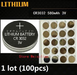 100pcs 1 lot CR3032 3V lithium pile au lithium ion bouton pile CR 3032 3 Volts li-ion piles de la pièce Livraison Gratuite