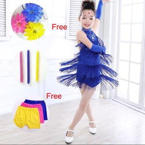 Kids Latin Dance Dress For Girls Fringe Latin Dance Costume Clothes Ballroom Tango Rumba Samba Latin Salsa Dress For Dancing