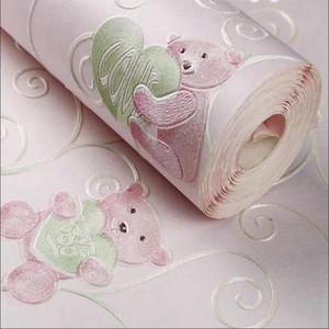 3D Children Room Embossing Wallpaper Cartoon Wallpaper Environmental Protection Boy Girl Bedroom Cartoon Wall Papers For Wall