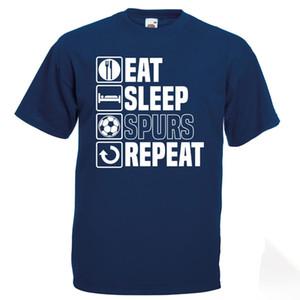 Coma el sueño Spurs camiseta de padres divertido Tottenham Día del regalo de cumpleaños camiseta de los hombres de impresión de algodón de manga corta camiseta