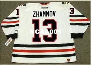Mens # 13 ALEX ZHAMNOV Chicago Blackhawks 2002 CCM Home Hockey Jersey o personalizzato qualsiasi nome o numero retro Jersey
