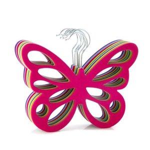 Nuevo estilo bufanda de la mariposa suspensión de plástico blanco bufanda suspensión organizador corbata cinturón armario almacenamiento titular gancho envío gratis